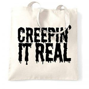 Creepin' It Real Halloween Pun drôle Creepy Slogan Sac à Main de la marque Tim and Ted image 0 produit
