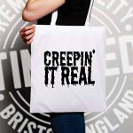 Creepin' It Real Halloween Pun drôle Creepy Slogan Sac à Main de la marque Tim and Ted image 2 produit