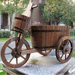 CYJZ® Pot de fleurs Jardinage flotteur à trois roues Carbure Protection du bois Bac à fleurs Résistant à la corrosion (Couleur : #3) de la marque GAPHUAJIA image 1 produit