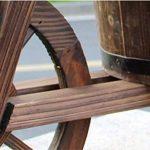 CYJZ® Pot de fleurs Jardinage flotteur à trois roues Carbure Protection du bois Bac à fleurs Résistant à la corrosion (Couleur : #3) de la marque GAPHUAJIA image 4 produit