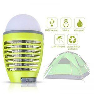 Dewel Lampe Anti-Moustiques 2 en 1 sans Fils Pièges à Moustiques 3W avec Éclairage 4W Imperméable IP44 Accroché pour Camping Extérieur de la marque Dewel image 0 produit