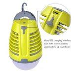 Dewel Lampe Anti-Moustiques 2 en 1 sans Fils Pièges à Moustiques 3W avec Éclairage 4W Imperméable IP44 Accroché pour Camping Extérieur de la marque Dewel image 2 produit
