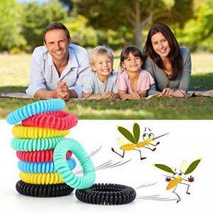 Diswoe Bracelets Anti-Moustiques, Bracelets Anti Moustique pour Adultes et Enfants, 100% Naturels Huiles essentielles, Lot DE 10 de la marque Diswoe image 0 produit