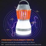 Divo LED Lanterne de camping Mosquito Zapper lumière de tente, IP67étanche et rechargeable USB, anti Bug Insectifuge, abat-jour amovible avec 3lampes Mode de la marque Divo image 2 produit