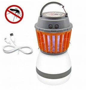 Divo LED Lanterne de camping Mosquito Zapper lumière de tente, IP67étanche et rechargeable USB, anti Bug Insectifuge, abat-jour amovible avec 3lampes Mode de la marque Divo image 0 produit