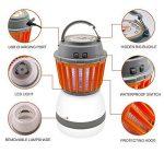 Divo LED Lanterne de camping Mosquito Zapper lumière de tente, IP67étanche et rechargeable USB, anti Bug Insectifuge, abat-jour amovible avec 3lampes Mode de la marque Divo image 4 produit