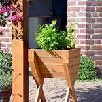 dobar décoratif Plate-bande surélevée en bois (Pin): Table de Construction Kit pour légumes, herbes, fleurs, facile à monter, marron, 39x 40x 61cm, 58100FSC de la marque dobar image 4 produit