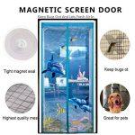 DULPLAY Image 3D velcro Aimantée rideau moustiquaire à fixation Rideau en maille Maillage de la porte magique Respirabilité Joint d'étanchéité Bricolage Moustiquaire ajustable-Bleu 80x205cm(31x81inch) de la marque DULPLAY image 2 produit