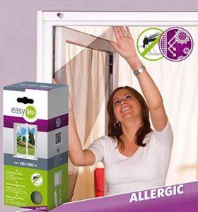 easy life Tissu moustiquaire anti-pollen auto-agippante pour fenêtres 130 x 150 cm avec ruban adhésif en blanc de la marque Easy Life image 0 produit