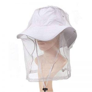 Elastic insectes Head Net Mesh Masque Anti Mosquito / Bee, gris clair de la marque Blancho image 0 produit