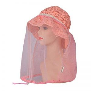 Elastic insectes Head Net Mesh Masque Anti Mosquito / Bug / Bee - Rose de la marque Blancho image 0 produit