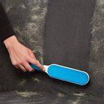 Elsatsang Animal fourrure et Lint Remover Brosse double avec base Auto-nettoyage pour un Look Parfait, enlève les poils tenaces, Pelage de l'animal et les peluches des vêtements et meubles (Bleu) de la marque image 2 produit