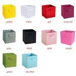 EMVANV pliable Tissu carré Boîte de rangement Tiroir Vêtements étagère Organiseur Boîte de rangement épais durable, Red, Taille unique de la marque EMVANV image 1 produit