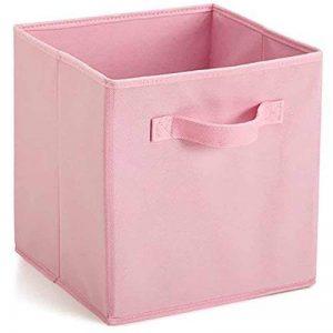 EMVANV pliable Tissu carré Boîte de rangement Tiroir Vêtements étagère Organiseur Boîte de rangement épais durable, rose, Taille unique de la marque EMVANV image 0 produit