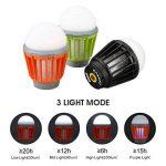 ENKEEO Lampe de Camping Anti Moustiques Lanterne Anti Moucheron Etanche avec 2000mAh Batterie Rechargeable de la marque ENKEEO image 3 produit