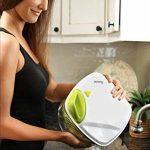 Essoreuse à Salade et Légumes Grande Capacité (5L) - Essorage Efficace et Facile avec Nouveau Système de Poignée - Design Innovant avec Grille d'Evacuation d'Eau - 2 en 1: Utilisable en Saladier de la marque Twinzee image 2 produit