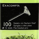 EXACOMPTA 14512E -Une boite de 100 épingles tête plate 5 mm de couleur CRISTAL de la marque Exacompta image 1 produit