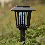 Extérieur à énergie solaire tueur Bug antiparasite sans fil Jardin Pelouse Lumière LED piège anti-moustique insectes Zapper Regard de la marque image 1 produit