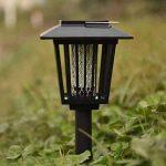 Extérieur à énergie solaire tueur Bug antiparasite sans fil Jardin Pelouse Lumière LED piège anti-moustique insectes Zapper Regard de la marque image 3 produit