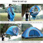 Eyeco Randonnée Tente de camping pour 2-4 personnes, Automatique Pop Up Tentes de randonnée en plein air Double couches avec sac de transport de la marque Eyeco image 2 produit