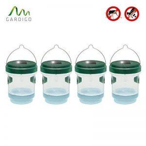 Gardigo - Piège à Mouche, Guêpes et Moustiques; Attrape Anti-Insectes, Frelons; Solaire avec Lumière LED - Set de 4 de la marque Gardigo image 0 produit