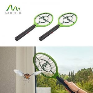 Gardigo - Set de 2 Raquettes électriques Anti-Moustiques, Anti-Insectes, Tue Mouches et Insectes Volants; Testée et certifiée par l'Université d'État du Nouveau-Mexique de la marque Gardigo image 0 produit