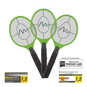 Gardigo Set de 3 Raquettes électriques anti moustiques, anti-insectes, tue mouches et les insectes volants | testée et certifiée par l'Université d'État du Nouveau-Mexique de la marque Gardigo image 0 produit