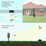 GOWOLD Chiens et chats Animaux Anti-moustiques Ultrasonic LED flash, Outdoor solar repellent Chats, chiens, oiseaux, rats, rats, écureuils de la marque GOWOLD image 4 produit
