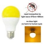 Greenic LED Jaune Bug ampoule 9W (remplace 60W), lumière anti-moustiques pour intérieur ou extérieur Jardin Garage Ferme, 800LM, 2-pack E27 de la marque Greenic image 1 produit