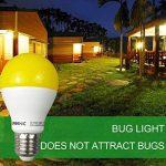 Greenic LED Jaune Bug ampoule 9W (remplace 60W), lumière anti-moustiques pour intérieur ou extérieur Jardin Garage Ferme, 800LM, 2-pack E27 de la marque Greenic image 3 produit