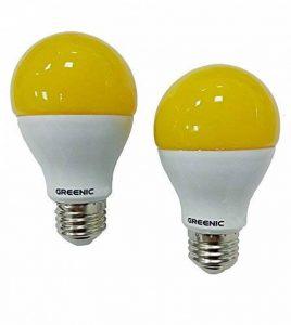Greenic LED Jaune Bug ampoule 9W (remplace 60W), lumière anti-moustiques pour intérieur ou extérieur Jardin Garage Ferme, 800LM, 2-pack E27 de la marque Greenic image 0 produit