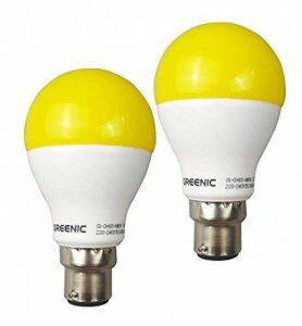 Greenic LED Jaune Bug ampoule 9W (remplace 60W), lumière anti-moustiques pour intérieur ou extérieur Jardin Garage Ferme, 800LM, 2-pack Moderne B22 de la marque Greenic image 0 produit