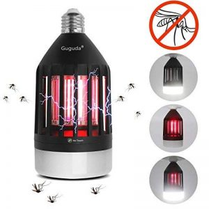 Guguda Tueur de Moustiques, 2 IN 1 Anti-moustique UV Attirer de Moustique Lampe 9W LED Électronique Zapper Lampe pour Maison/Bureau/l'extérieur,with B22-E27 Porte-lampe de la marque Guguda image 0 produit