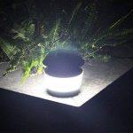 GutReise Multifonctionnel Ultrasons Insectifuge Portable Solaire Alimenté Rue Lumière Étanche IP54 80LM Extérieure Nuit Lampshades Lumière avec Lampe Anti-Mosquito & Fonction Lumière Extérieure de la marque GutReise image 3 produit