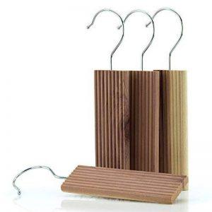 Hangerworld Lot de 12 blocs antimites en bois de cèdre à suspendre 13 x 4.5 x 1cm de la marque Hangerworld image 0 produit