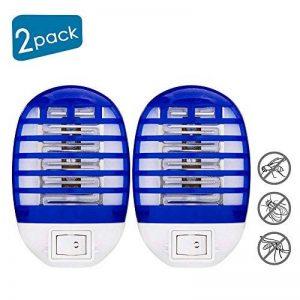 HLU Lampe Anti-Moustique Deux, LED Destructeur de Moustique Interieur Électronique Zapper Lampe 2 Pack de la marque HLU image 0 produit