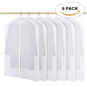 HOMMINI Housse de vêtement, Lot de 6 Sac de vêtement avec zip transparent et Anti-poussière, Idéal pour la maison et le voyage, 60*120 CM de la marque HOMMINI image 0 produit