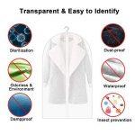 HOMMINI Housse de vêtement, Lot de 6 Sac de vêtement avec zip transparent et Anti-poussière, Idéal pour la maison et le voyage, 60*120 CM de la marque HOMMINI image 1 produit