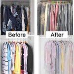 HOMMINI Housse de vêtement, Lot de 6 Sac de vêtement avec zip transparent et Anti-poussière, Idéal pour la maison et le voyage, 60*120 CM de la marque HOMMINI image 4 produit