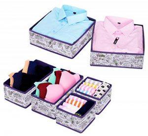 Homyfort lot de 6 boîte de rangement tissu, boite rangement tiroir idéale, utilisation flexible boîte tiroir, Non-tissé, Lavande, XLVCB06P de la marque homyfort image 0 produit
