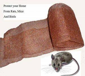 Honey & Willow Mouse Deterrent Maille en cuivre répulsif contre les souris, contrôle rongeur, répulsif anti-oiseaux, protégez votre maison en toute sécurité et efficacement 100 Foot. de la marque Honey & Willow Mouse Deterrent image 0 produit