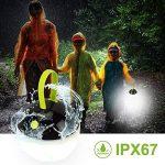 HOOMEE Lanterne portable LED Anti-moustique - Petite lampe rechargeable USB ronde – Prix Red Dot - Parfait pour les activités intérieures, Camping, Situations d'Urgence, Décoration - Imperméable à l'eau, étanche à la poussière - 4 modes d'éclairage de la image 2 produit