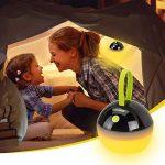 HOOMEE Lanterne portable LED Anti-moustique - Petite lampe rechargeable USB ronde – Prix Red Dot - Parfait pour les activités intérieures, Camping, Situations d'Urgence, Décoration - Imperméable à l'eau, étanche à la poussière - 4 modes d'éclairage de la image 1 produit