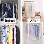 Housses de Vêtements,Gdaya lot de 6 Housses de Rangement,Lavable Transparentes Anti-poussière Respirantes Sac de Vêtement avec Zip pour Costumes,Smoking,Anti-moisissure,100x60cm/3Pcs et 120x60cm/3Pcs de la marque Gdaya image 6 produit