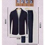 Housses de Vetements,Housse Costume avec zip,ISIYINER Transparent Housse Vetement pour Penderie et Voyager Anti poussière mite humidité 100*60CM[3Pièces]+120*60CM[3Pièces] de la marque ISIYINER image 1 produit