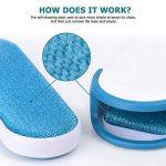 iHomy Brosse Anti-poils pour animaux domestiques - Brosse de Nettoyage Réutilisable pour Enlever les Poils d'animaux de compagnie avec poignée autonettoyante (Bleu) de la marque iHomy image 1 produit