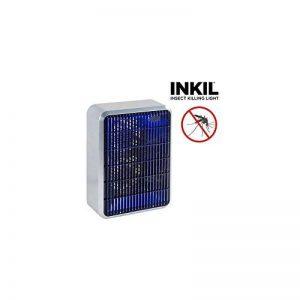 Inkil ig104254–lampe anti moustiques électrique, lumière ultraviolet, fulmina insectes sans substances chimiques, 28m² (rectangulaire, 8W, 220V) couleur Gris de la marque Inkil image 0 produit