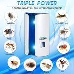 Insectifuge électromagnétique et Ultrason Souris , Taille de Voyage insectifuge, répulsif ultrasonique antiparasitaire pour les araignées, les moustiques, les fourmis, les rats, les cafards, les mouches des fruits, les rongeurs de la marque fittracker image 1 produit