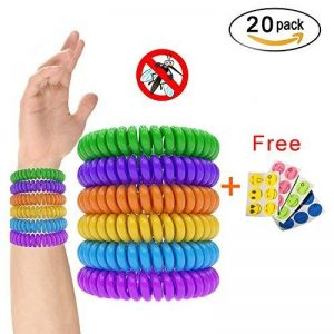 Isuper 20pcs Bracelets anti-moustique avec 6pcs Autocollants Anti- Moucheron Naturels Huiles essentielles Ne contient pas de DEET Résiste à l'eau - Aléatoire de la marque Isuper image 0 produit