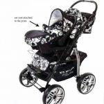 Kamil - Landau pour bébé + Siège Auto - Poussette - Système 3en1, incluant sac à langer et protection pluie et moustique - ROUES NON PIVOTABLES (Système 3en1, fleurs) de la marque Baby Sportive image 4 produit